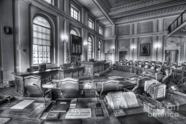 Photograph - Maine State House Senate Chamber Iv by Clarence Holmes