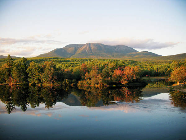 Baxter State Park Photograph - Maines Mount Katahdin And The Penobscot by Chris Bennett