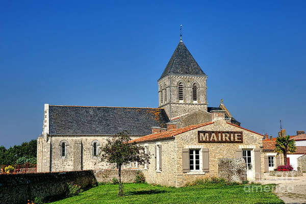 Wall Art - Photograph - Mairie Eglise by Olivier Le Queinec