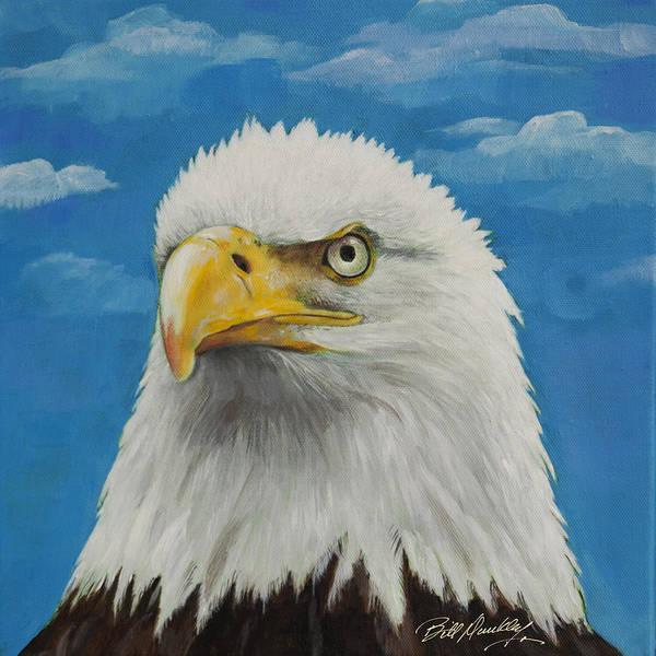 Wall Art - Painting - Majestic Bald Eagle by Bill Dunkley