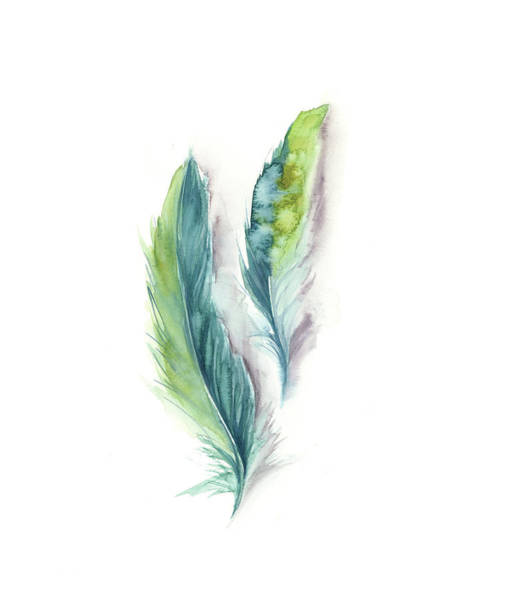 Wall Art - Painting - Majestic Feathers II by Sophia Rodionov