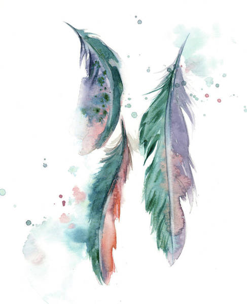 Wall Art - Painting - Majestic Feathers by Sophia Rodionov