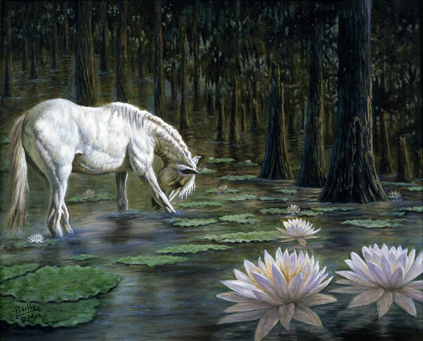White Stallion Wall Art - Painting - Majestic by Gregory Perillo