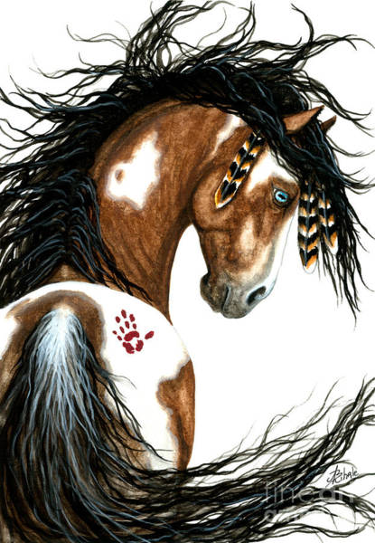 Wild Horse Painting - Majestic Horse #106 by AmyLyn Bihrle
