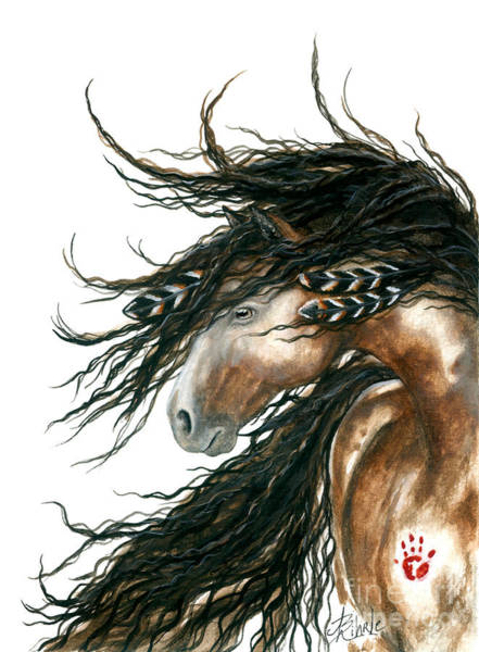 Mane Wall Art - Painting - Majestic Pinto Horse 80 by AmyLyn Bihrle