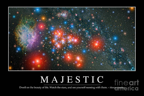 Digital Art - Majestic Inspirational Quote by Stocktrek Images