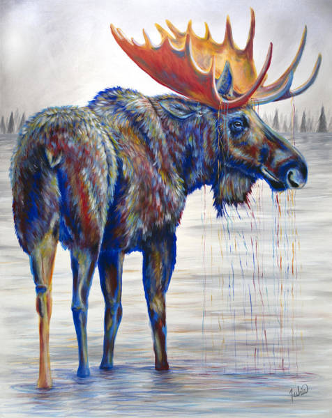 Jackson Hole Wall Art - Painting - Majestic Moose by Teshia Art