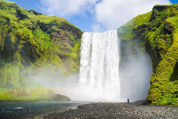 Photograph - Majestic Skogafoss Waterfall In Iceland by Matthias Hauser