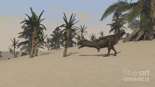 Digital Art - Majungasaurus Roaming A Prehistoric by Kostyantyn Ivanyshen