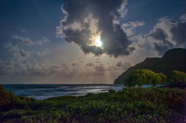 Photograph - Makapuu As The Eclipse Begins by Dan McManus
