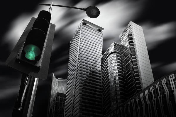 Selective Color Photograph - Makati Prologue by Dr. Akira Takaue