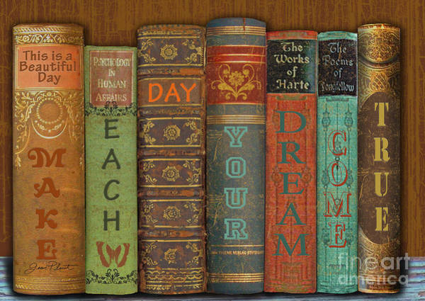 Spine Digital Art - Make Each Day-books by Jean Plout