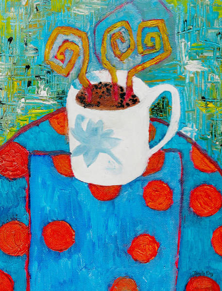 Painting - Coffee  By Janelle Dey by Janelle Dey