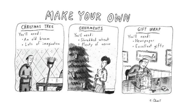 Christmas Tree Drawing - Make Your Own by Roz Chast