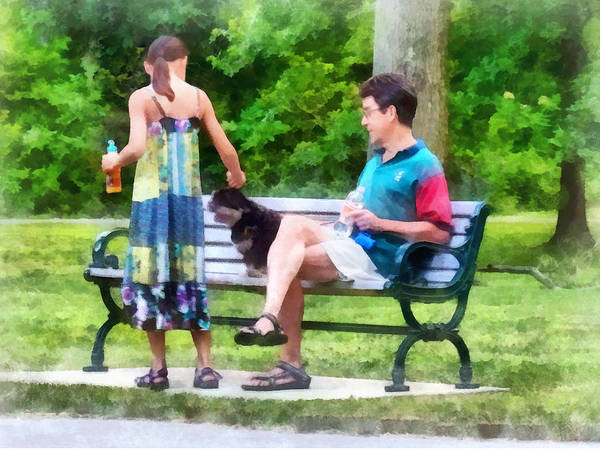 Photograph - Making A New Friend In The Park by Susan Savad