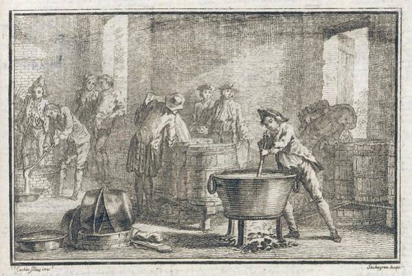 Fireworks Drawing - Making Fireworks In 18th  Century by Mary Evans Picture Library
