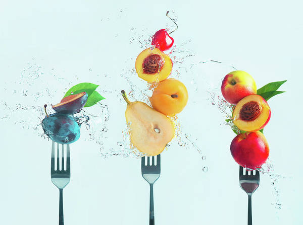 Splash Photograph - Making Fruit Salad by Dina Belenko