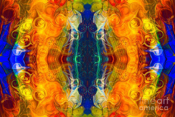 Digital Art - Making Love And Peace Abstract Pattern Artwork By Omaste Witkowski by Omaste Witkowski