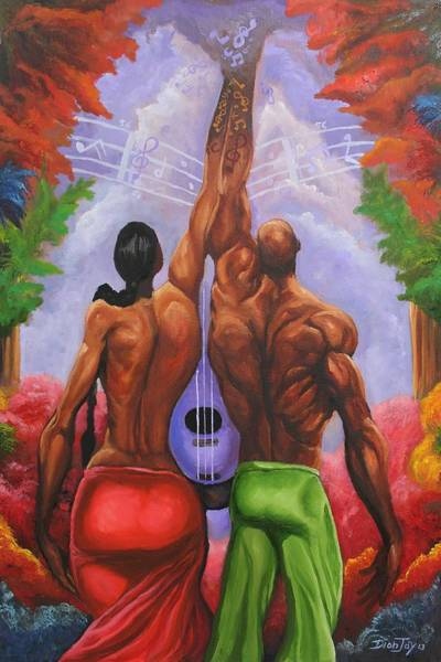 Wall Art - Painting - Making Of Music by The Art of DionJa'Y