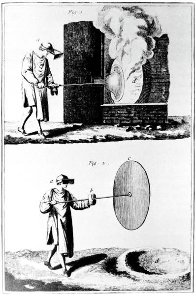 Manufacture Wall Art - Photograph - Making Plates Of Glass In The 18th Century by Science Photo Library