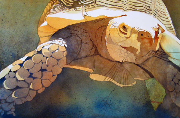 Turtle Painting - Making Tracks by Kris Parins