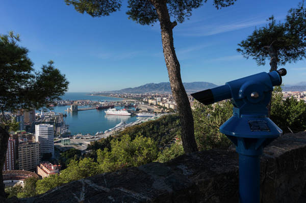 Binoculars Photograph - Malaga, Costa Del Sol, Spain. City And by Ken Welsh