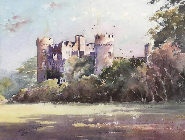 Framing Painting - Malahide Castle County Dublin Ireland by Keith Thompson
