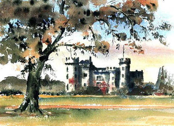 Painting - Malahide Castle Dublin by Val Byrne