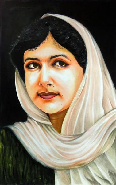 Bbc Painting - Malala Yousafzai by Arun Sivaprasad