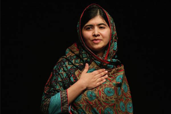 Talking Photograph - Malala Yousafzai Wins Nobel Peace Prize by Christopher Furlong