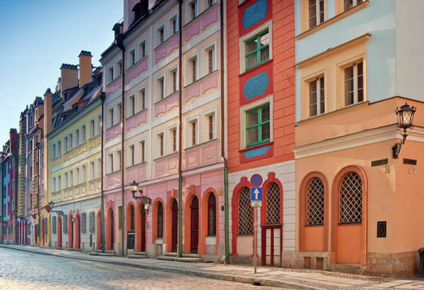 Old Photograph - Malarska Street At Old Town In Wroclaw by Witold Skrypczak