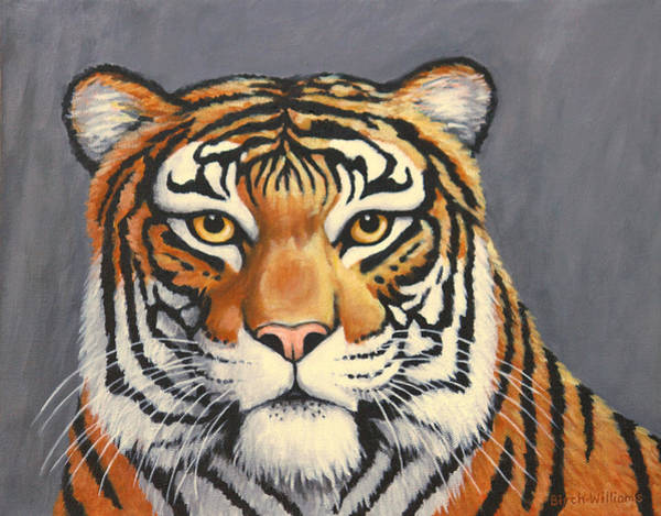 Painting - Malayan Tiger Portrait by Penny Birch-Williams