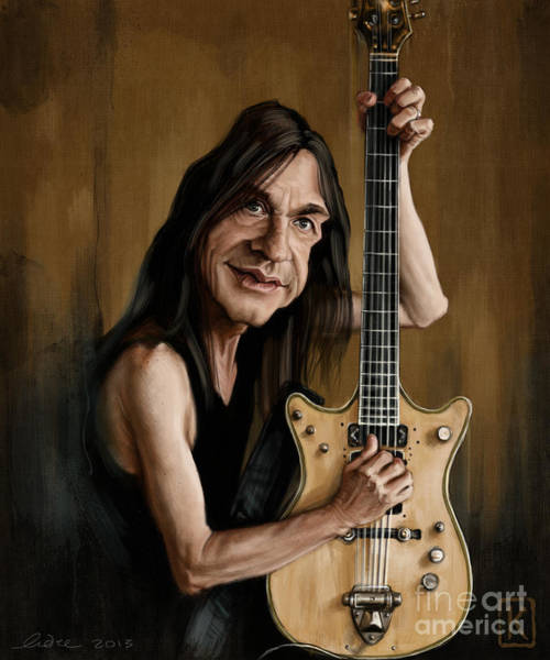Ac Dc Wall Art - Digital Art - Malcolm Young by Andre Koekemoer