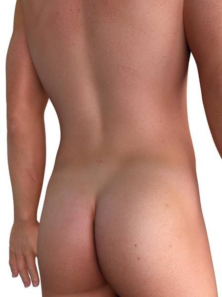 Buttocks Digital Art - Male Back, Artwork by Sciepro