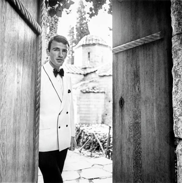 Photograph - Male Model In Greece Wearing A White Dinner by Leonard Nones