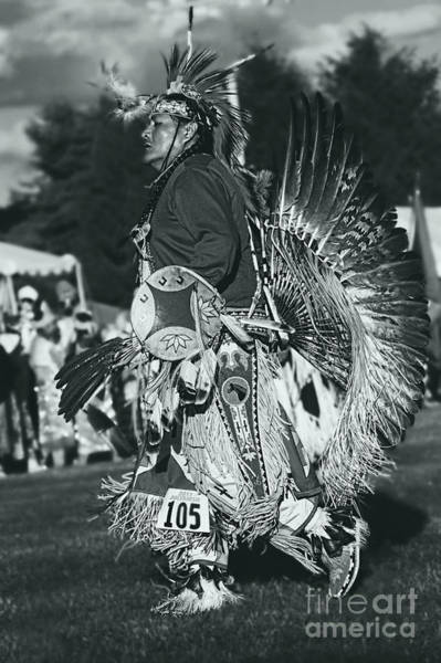 Wall Art - Photograph - Male Native Dancer In Silver Screen by Scarlett Images Photography