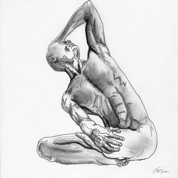 Digital Art - Male Nude 4 by Brian Kirchner