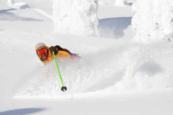 Wall Art - Photograph - Male Skier Makes A Deep Powder Turn by Craig Moore