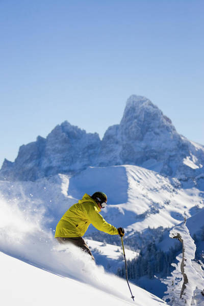 Wall Art - Photograph - Male Skier Points It Straight by Gabe Rogel