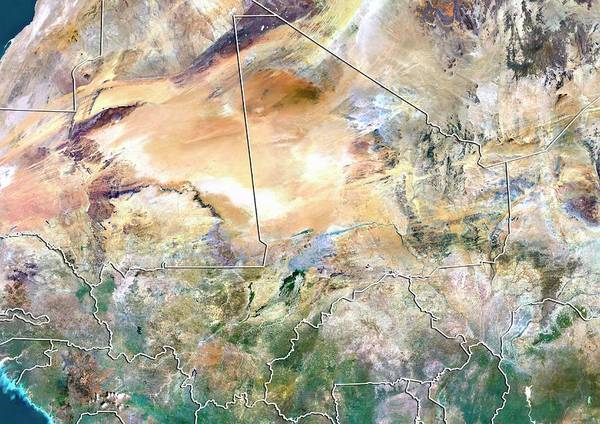 Landsat 7 Wall Art - Photograph - Mali by Planetobserver/science Photo Library