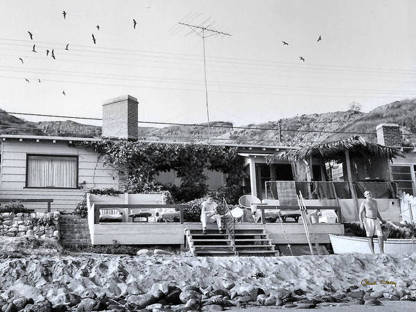 Photograph - Malibu Beach House - 1960 by Chuck Staley