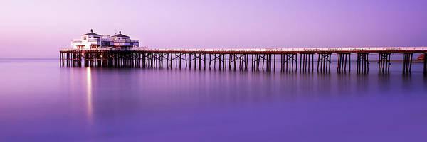 Malibu Photograph - Malibu Pier At Sunrise by Steve Munch