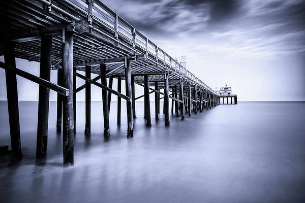 Pier Photograph - Malibu Pier, Los Angeles County by Mbbirdy