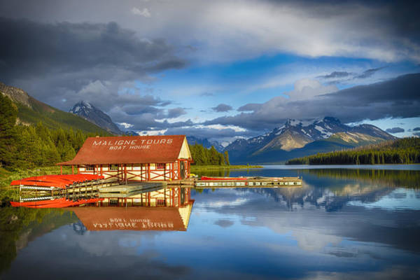 Photograph - Maligne Boat House by Mary Jo Allen