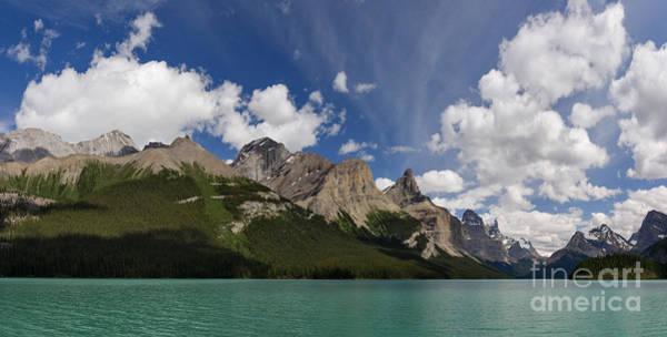 Photograph - Maligne Lake Panorama by Charles Kozierok
