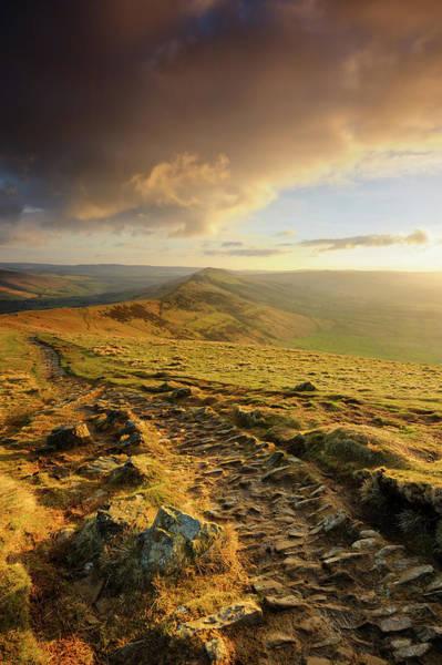 Peak District National Park Photograph - Mam Tor, The Great Ridge, Peak District by Chris Hepburn