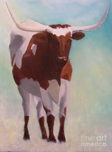 Longhorn Painting - Mama Longhorn by Susan Williams