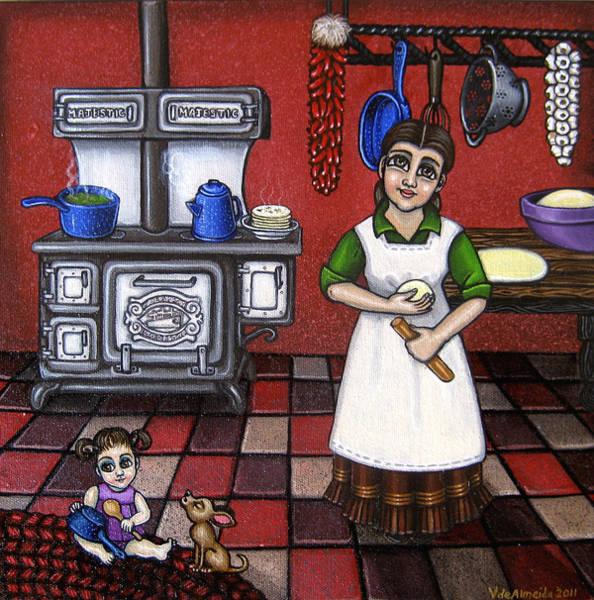 Painting - Mamacita by Victoria De Almeida