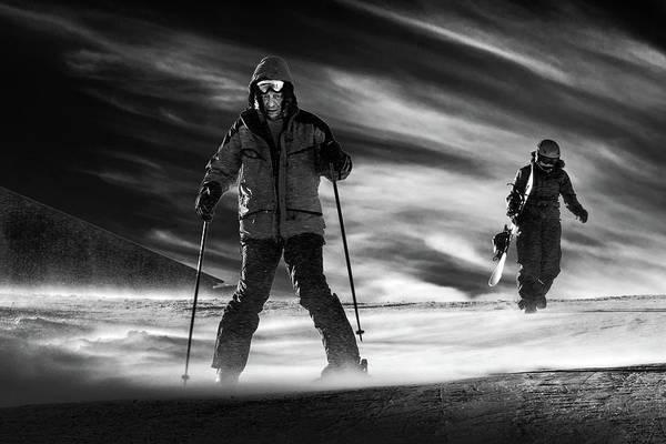 Skiing Photograph - Mamma I'm Coming Home by Sebastian Vasiu |