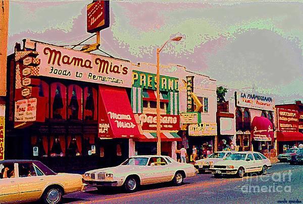 Painting - Mamma Mia's Italian Eatery Foods To Remember Niagara Falls Landmark Diner Ontario Paintings Cspandau by Carole Spandau